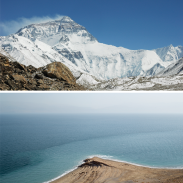 Himalaya et mer morte